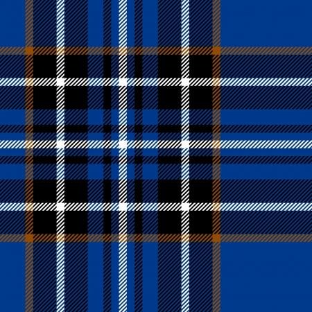 タータン伝統的な市松模様イギリス ファブリック シームレスなパターン、ブルー、ブラック