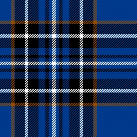 Tartan traditional checkered british fabric seamless pattern, blue and black Vector