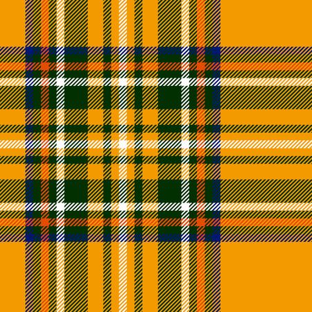 Tart�n tradicional brit�nico tela a cuadros sin patr�n, amarillo y verde