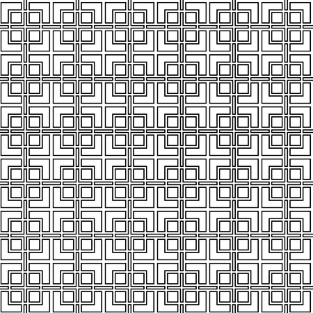trellis: Geometric abstract lattice seamless pattern in black and white