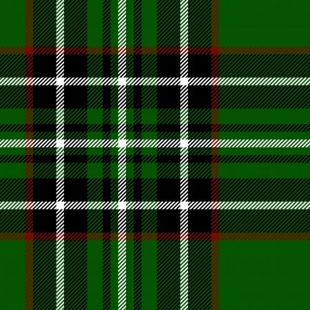 タータン格子縞伝統的なファブリックの緑と黒のシームレスなテクスチャ  イラスト・ベクター素材