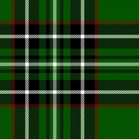 Tartan checkered traditional fabric seamless texture in green and black