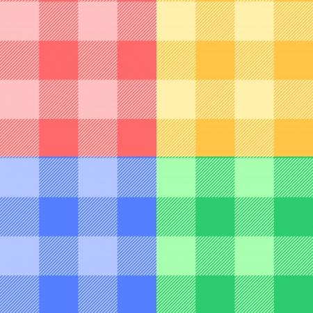 パステル カラーのギンガム格子縞生地色のシームレスなパターン、ベクトル  イラスト・ベクター素材