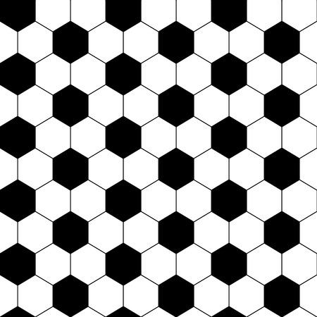 Zwarte en witte zeshoek voetbal bal naadloze patroon, vector