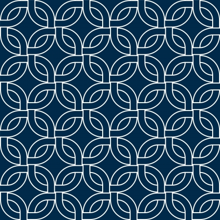 Abstract geometric woven squares seamless pattern in blue and white, vector Illustration
