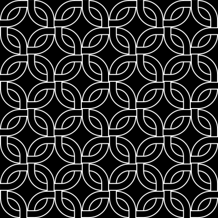 Geometric abstract woven squares seamless pattern in black and white, vector Illustration