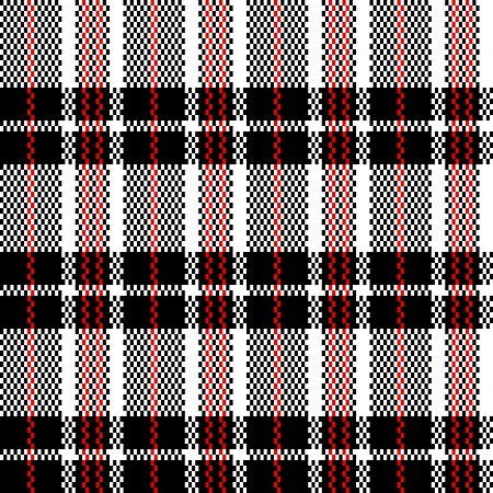 Chinese plastic plaid checker bag in black and white seamless pattern, vector Vector
