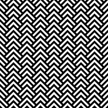 herringbone background: Black and white chevron geometric seamless pattern, vector