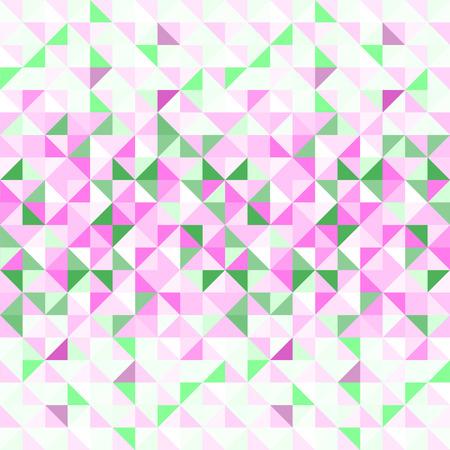 pink green: Pastel de color rosa sin patr�n abstracto geom�trico verde y blanco