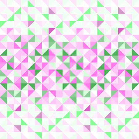 origami pattern: Pastel pink green and white abstract geometric seamless pattern Illustration