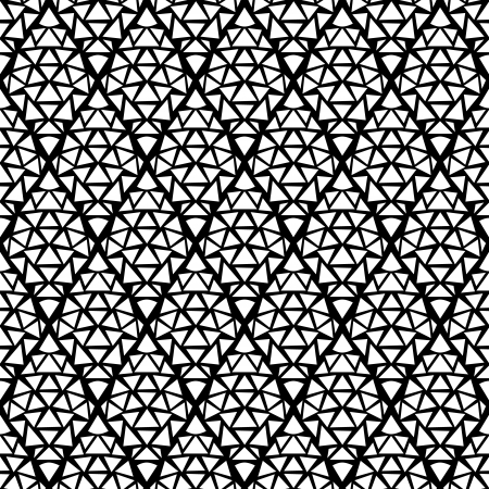 east indian: Black and white simple geometric abstract seamless pattern Illustration