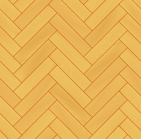 Yellow realistic wooden floor herringbone parquet seamless pattern Illustration