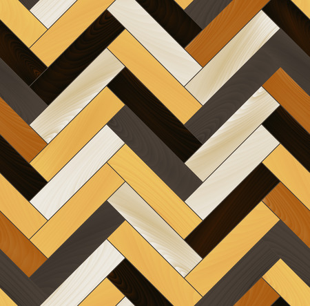 Colorful realistic wooden floor herringbone parquet seamless pattern