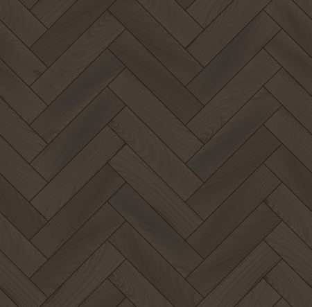 Realistic wooden floor herringbone parquet seamless pattern Illustration