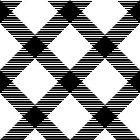 cuadros blanco y negro: A cuadros de tela de algodón barato patrón transparente en blanco y negro