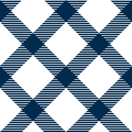 checked: Checkered gingham fabric seamless pattern in blue and white