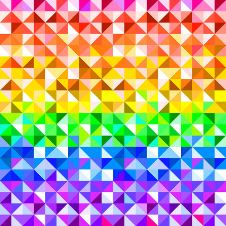 Colorful rainbow abstract triangles geometric pattern, vector Vector