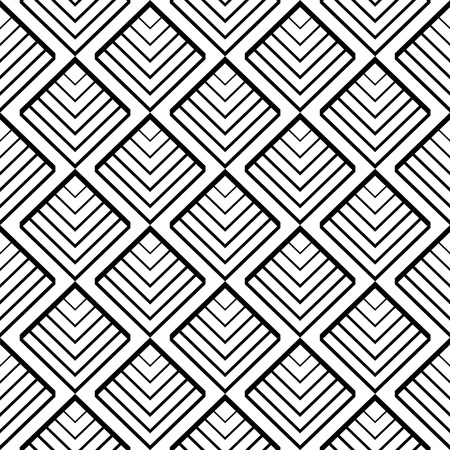 zag: Simple geometric seamless pattern in black and white