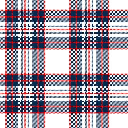 Tartan tissu britannique seamless damier traditionnel, blanc et bleu