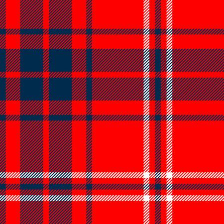 tela algodon: Tartán británico sin fisuras patrón a cuadros tradicionales, rojo y azul, vector