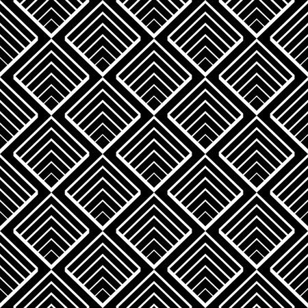 黒と白のベクトルで単純な幾何学的なシームレス パターン