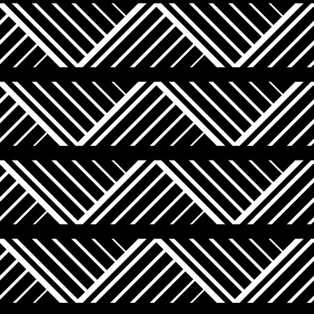 geo: Simple geometric seamless pattern in black and white, vector