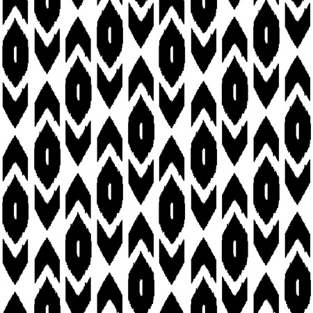 Simple middle east traditional silk fabric seamless pattern in black and white Vector