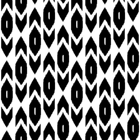 silk fabric: Simple tela de seda tradicional patr�n transparente oriente medio en blanco y negro Vectores