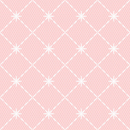 blush: Pink and white geometric lace seamless pattern, vector