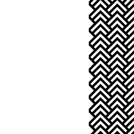 decoration: Black and white chevron geometric vertical border frame background