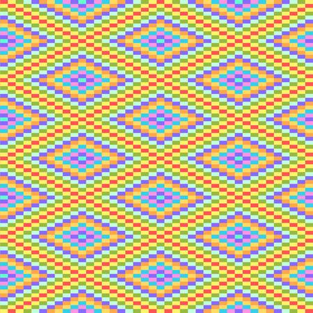 Colorful geometric diamond shape seamless pattern, vector Vector