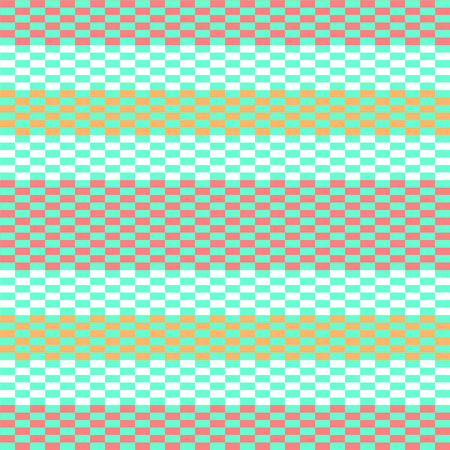 Colorful pixelated striped geometric seamless pattern, vector Illustration