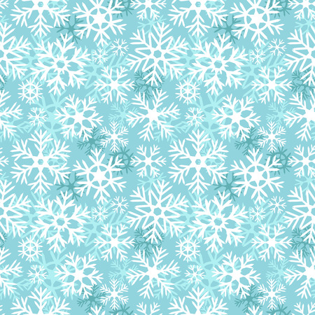 Blue and white snowflakes christmas seamless pattern, vector Vector