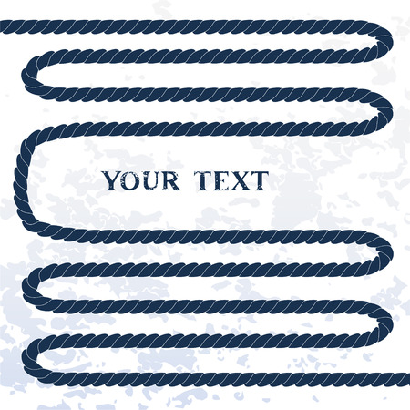navy blue background: Navy blue rope on white vector background