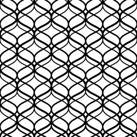 lattice: Abstract black and white lattice geometric seamless pattern, vector