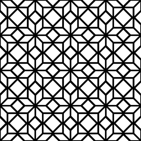 star pattern: Black and white simple star shape geometric seamless pattern, vector Illustration