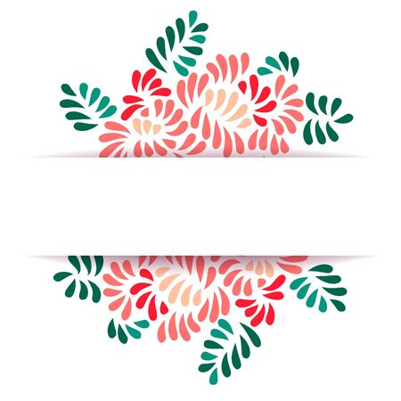 pastel colored: Pastel colored stylized flowers and leaves bouquet, vector ornament