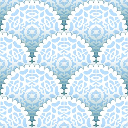doilies: Christmas paper doilies snowflakes seamless pattern, vector background