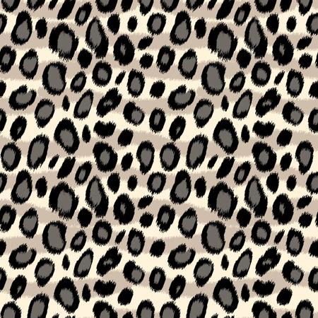 Luipaard print animal print naadloos patroon in zwart en wit, vector achtergrond