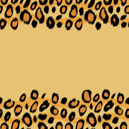 animal border: Leopard skin animal print seamless pattern, vector background