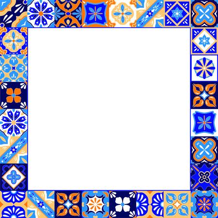 Beige en bruin traditionele etnische Afrikaanse mudcloth stof naadloze patroon, vector achtergrond Stock Illustratie