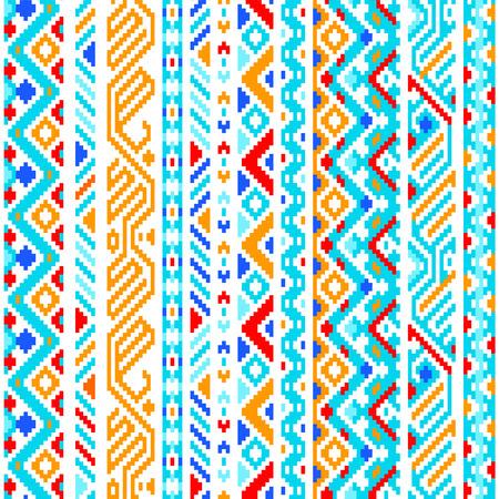 totem indien: Colorful ethnique géométrique aztec seamless, vecteur, fond