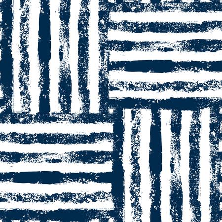 Niebieskie i białe paski tkane grunge bez szwu wzór, tło