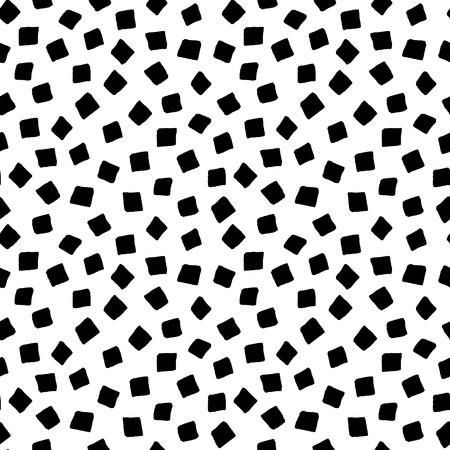 forme geometrique: forme carrée noir et blanc dessiné à la main géométrique simple seamless, vecteur, fond Illustration