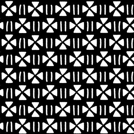 pattern geometric: Black and white ethnic geometric seamless pattern, vector background Illustration