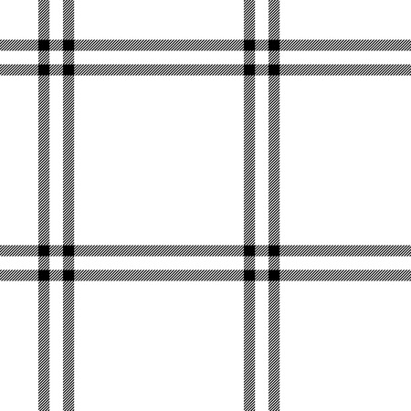 woven: Black and white tartan traditional fabric seamless pattern, vector background