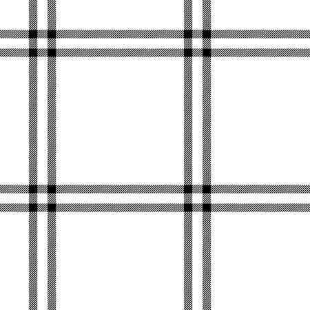 cuadros blanco y negro: tartán, tela blanco y negro tradicional sin patrón, vector de fondo