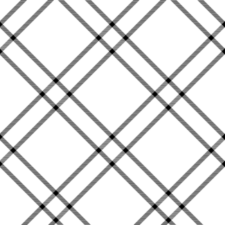 mod: Black and white tartan traditional fabric seamless pattern, vector background