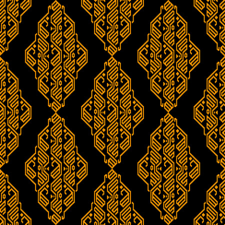 blanket: Golden and black ethnic aztec geometric seamless pattern, use for design background, fabric print, wallpaper Illustration
