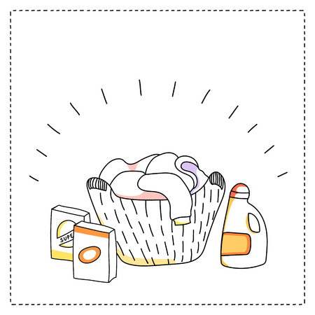 detersivi: cesto della biancheria, detersivi